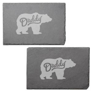 Daddy Bear Engraved Slate Placemat - Set of 2