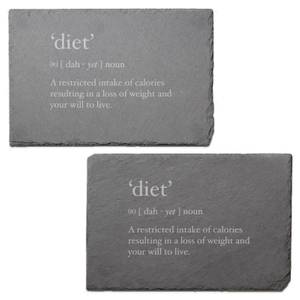 Diet - Restricted Intake Engraved Slate Placemat - Set of 2