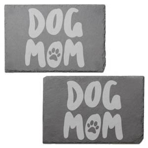 Dog Mom Engraved Slate Placemat - Set of 2