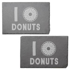 Donuts Engraved Slate Placemat - Set of 2