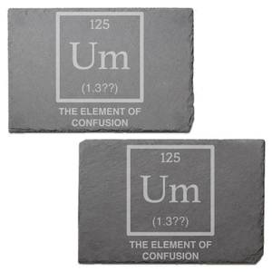 Element Of Confusion Engraved Slate Placemat - Set of 2