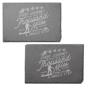 Every Journey Engraved Slate Placemat - Set of 2