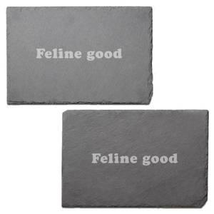Feline Good Engraved Slate Placemat - Set of 2