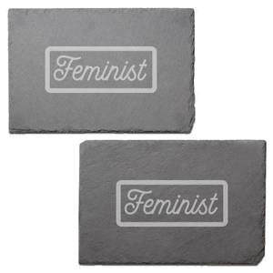 Feminist Engraved Slate Placemat - Set of 2