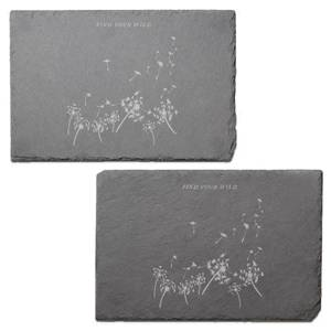 Find Your Wild Engraved Slate Placemat - Set of 2