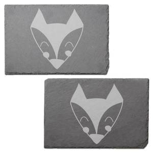 Fox Engraved Slate Placemat - Set of 2