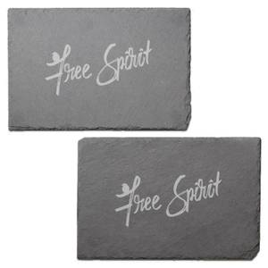 Free Spirit Engraved Slate Placemat - Set of 2
