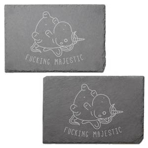 Fucking Majestic Engraved Slate Placemat - Set of 2