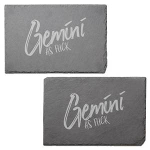 Gemini As Fuck Engraved Slate Placemat - Set of 2