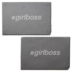 Girl Boss Engraved Slate Placemat - Set of 2