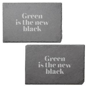 Green Is The New Black Engraved Slate Placemat - Set of 2