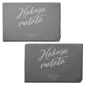 Hakuna Matata Engraved Slate Placemat - Set of 2