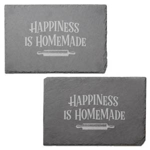 Happiness Is Homemade Engraved Slate Placemat - Set of 2