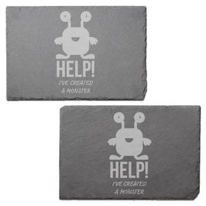 Help! I've Created A Monster Engraved Slate Placemat - Set of 2