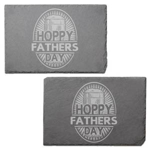Hoppy Fathers Day Engraved Slate Placemat - Set of 2