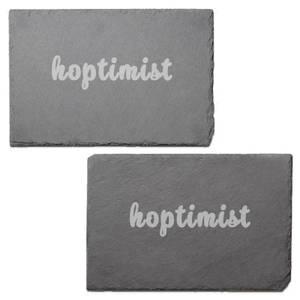 Hoptimist Engraved Slate Placemat - Set of 2