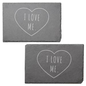 I Love Me Engraved Slate Placemat - Set of 2