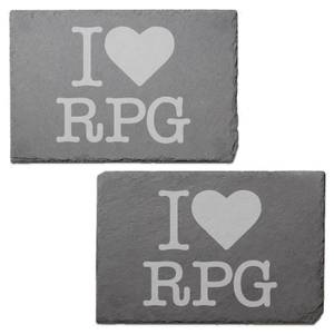 I Love RPG Engraved Slate Placemat - Set of 2