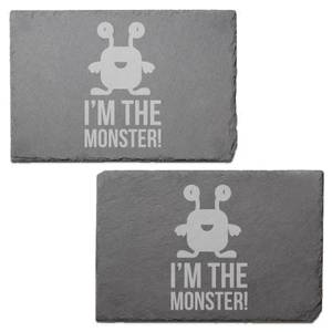 I'm The Monster Engraved Slate Placemat - Set of 2