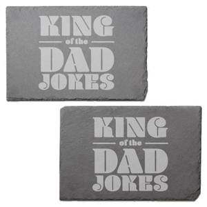 King Of The Dad Jokes Engraved Slate Placemat - Set of 2