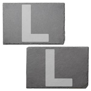 L Plates Engraved Slate Placemat - Set of 2
