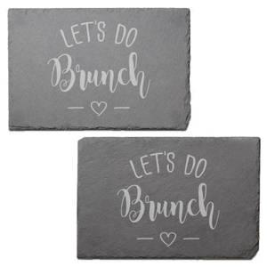 Let's Do Brunch Engraved Slate Placemat - Set of 2
