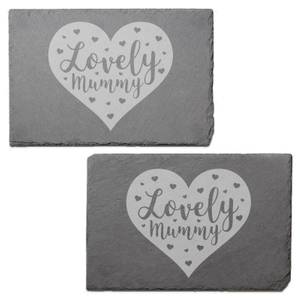 Lovely Mum Engraved Slate Placemat - Set of 2