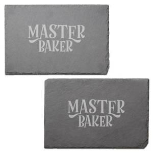 Master Baker Engraved Slate Placemat - Set of 2