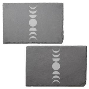 Moon Phases Engraved Slate Placemat - Set of 2