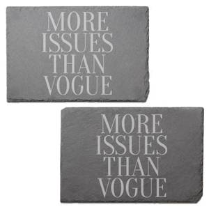 More Issues Than Vogue Engraved Slate Placemat - Set of 2