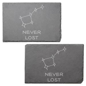 Never Lost Engraved Slate Placemat - Set of 2