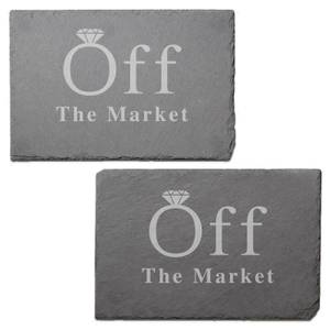 Off The Market Engraved Slate Placemat - Set of 2