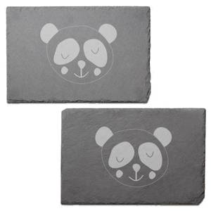 Panda Engraved Slate Placemat - Set of 2