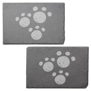 Paw Prints Engraved Slate Placemat - Set of 2