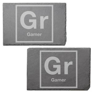Periodic Gamer Engraved Slate Placemat - Set of 2