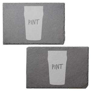 Pint Engraved Slate Placemat - Set of 2