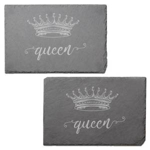 Queen Engraved Slate Placemat - Set of 2