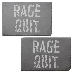 Rage Quit Engraved Slate Placemat - Set of 2