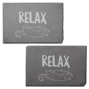 Relax Engraved Slate Placemat - Set of 2