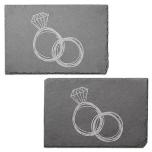 Rings Engraved Slate Placemat - Set of 2