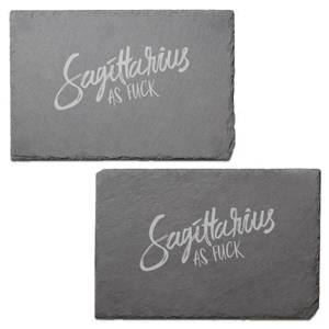 Sagittarius As Fuck Engraved Slate Placemat - Set of 2