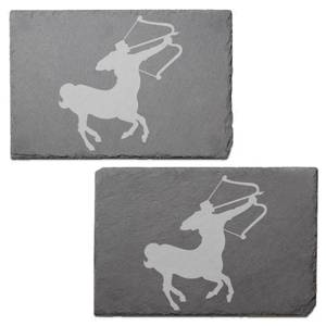 Sagittarius Engraved Slate Placemat - Set of 2