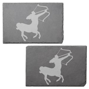 Sagittarius Engraved Slate Placemat - Set of 2