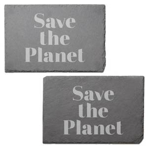 Save The Planet Engraved Slate Placemat - Set of 2