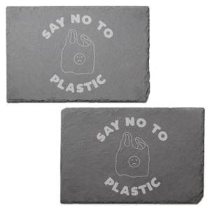 Say No To Plastic Engraved Slate Placemat - Set of 2