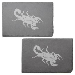 Scorpio Engraved Slate Placemat - Set of 2