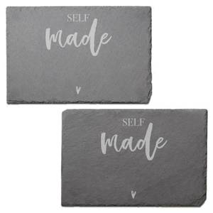 Self Made Engraved Slate Placemat - Set of 2