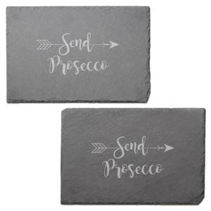 Send Prpsecco Engraved Slate Placemat - Set of 2