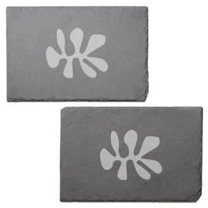 Shape Engraved Slate Placemat - Set of 2