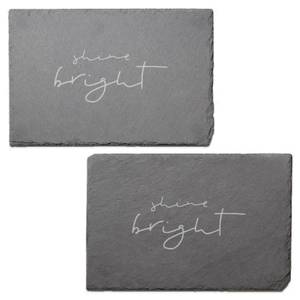 Shine Bright Engraved Slate Placemat - Set of 2